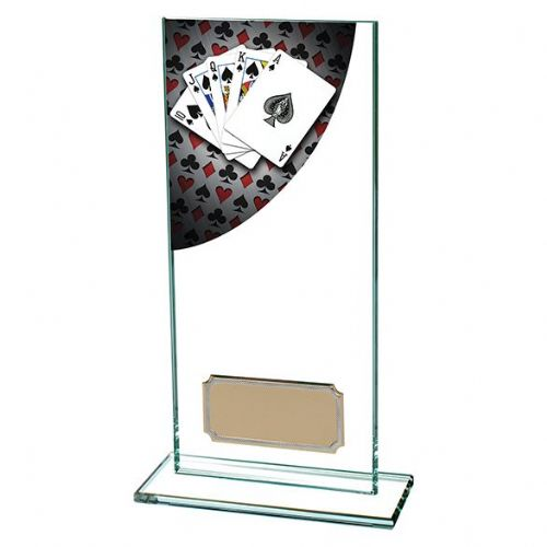 Colour Curve Poker Jade Glass Award 180mm